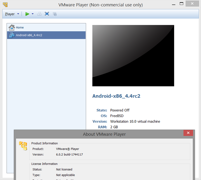 How-to Run Android 4 4 (KitKat) using VMWare Player - SPK and Associates
