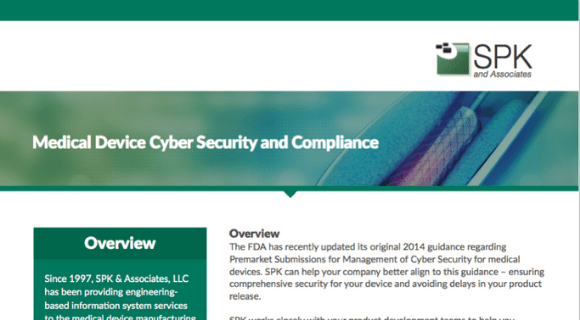 Medical Device Cyber Security and Compliance